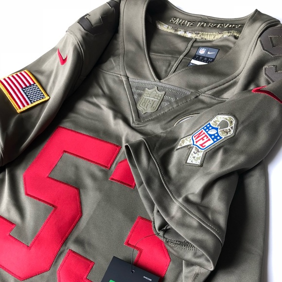 separation shoes 87acb d1d0c Women's Military football 49ers Nike Jersey XL NWT